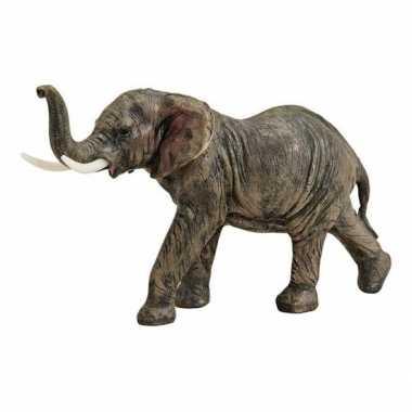 Bruin olifant beeldje 19 cm