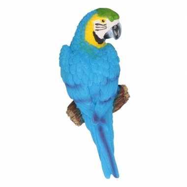 Dierenbeeld blauwe ara papegaai vogel 16 cm