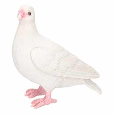 Dierenbeeld duif wit 20 cm