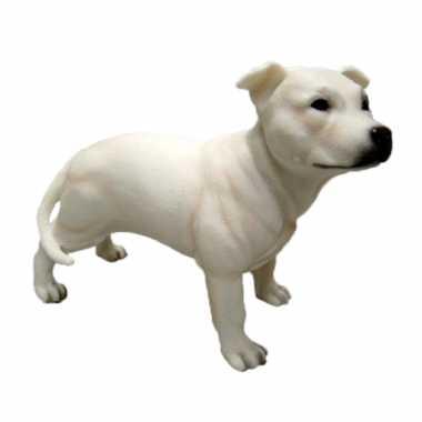 Dierenbeeld engelse staffordshire terrier hond 15 cm