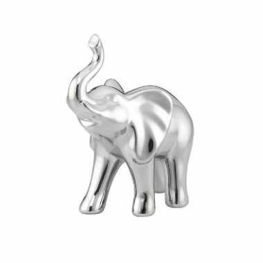 Dierenbeeld olifant 14 cm zilver van dolomiet