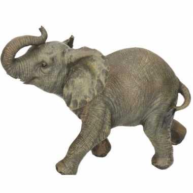 Dierenbeeld olifant 19 cm woondecoratie