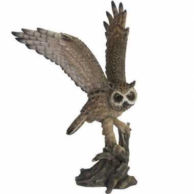 Dierenbeeld ransuil vogel 55 cm woondecoratie