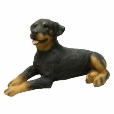 Dierenbeeld rottweiler hond 11 cm