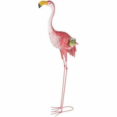 Flamingo thema tuindecoratie/tuinbeeld 104 cm